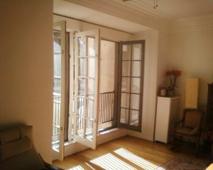 Large French doors restored to full functionality and original integrity.