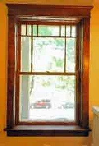Restored double hung window.
